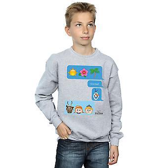 Disney meninos congelado eu amor calor Emoji moletom