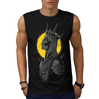 Queen Night Moon Skull Men BlackSleeveless T-shirt | Wellcoda