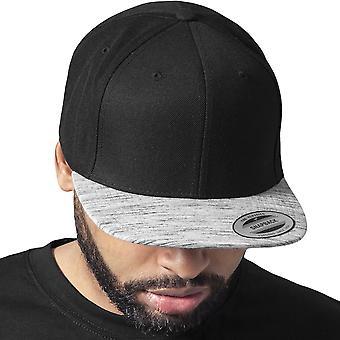 Flexfit MELANGE VISOR Snapback Cap - zwart / grijs