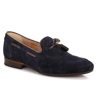 Hudson Mens Navy Pierre Suede Loafers