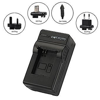 Dot.Foto Sanyo DB-L40 Travel Battery Charger for Sanyo Xacti VPC-HD1, VPC-HD1A, VPC-HD2, VPC-HD700, VPC-HD800