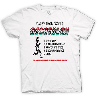 Womens T-shirt-Daley - Zehnkampf - Arcade - C64 - Thomspons-48K-Spiel