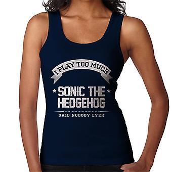 Juego demasiado Sonic The Hedgehog dijo nadie nunca chaleco de las mujeres