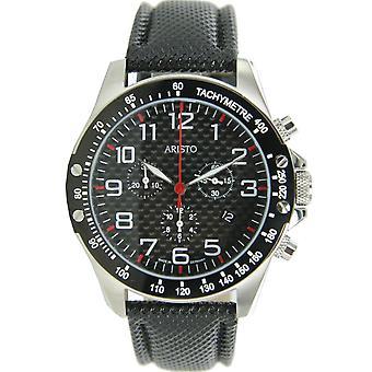 Aristo Men clock Chronograph Carbon Steel Trophy 4H158