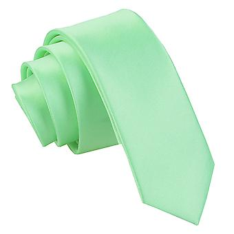 Mint Green oformaterad Satin smal slips