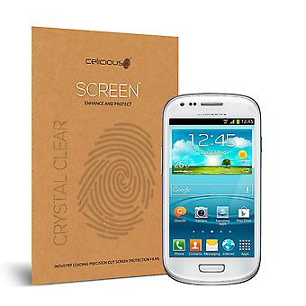 Celicious Vivid Invisible Glossy HD Screen Protector Film Compatible with Samsung Galaxy S3 Mini [Pack of 2]