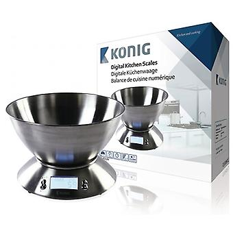 König Digital kitchen scale with stainless steel Bowl