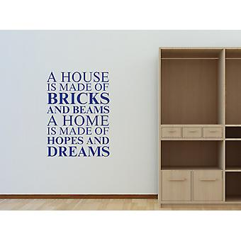 Una casa è fatta di Wall Art Sticker - Azure