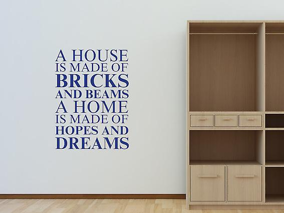 A house is made of Wall Art Sticker - Azure