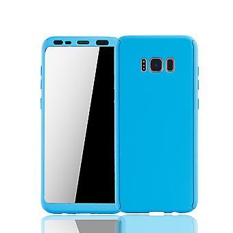 Samsung Galaxy S8 plus Rörlig Avsats Schutzcase full täckning 360 Visa skydd folie blå