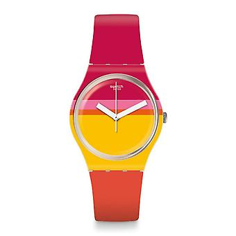 Swatch Gw198 Roug'heure Multi Colour Silicone Watch