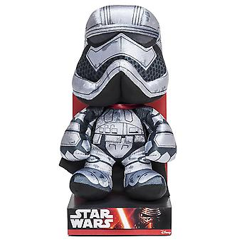 Star Wars plush figure Captain Phasma, episode 7 silver black, 100% polyester, Velboa velvet plush, in display box.