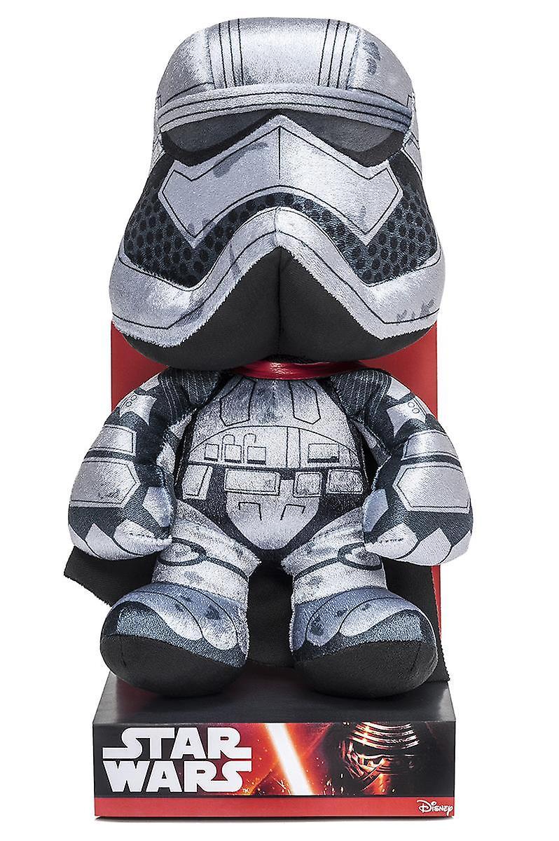 Star Wars plush figure Captain Phasma, episode 7 silver black, 100% polyester, Velboa velvet plush, in display box.