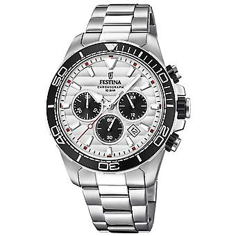 Festina Mens Stainless Steel Chronograph White-black Dial F20361/1 Watch