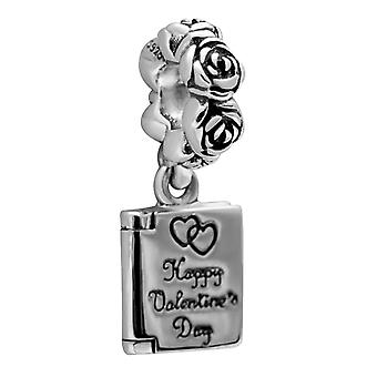 Sterling silver charm Happy Valentine's Day