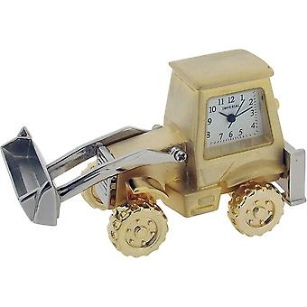 Gift Time Products Digger Miniature Clock - Gold/Silver