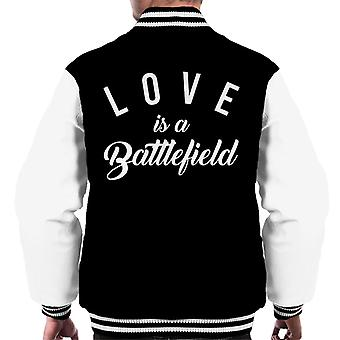 Love Is A Battlefield Song Lyric Men's Varsity Jacket