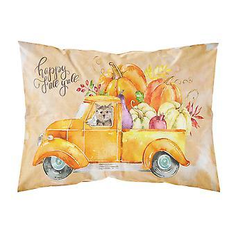 Fall Harvest Norwich Terrier Fabric Standard Pillowcase