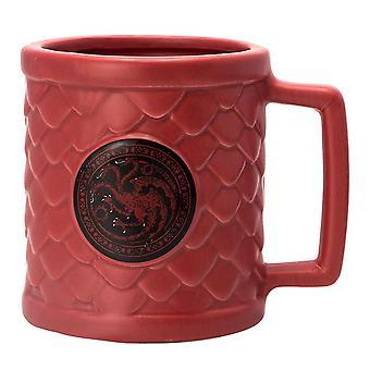 Game of Thrones 3D-Tasse Targaryen pink, aus Keramik, in Geschenkkarton, Fassungsvermögen ca. 320 ml.
