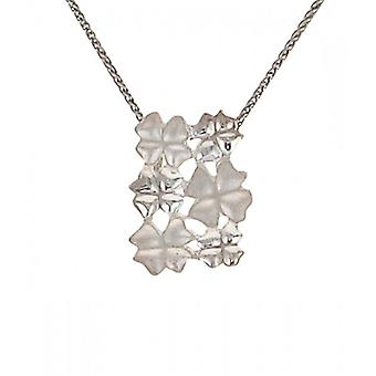Cavendish French Silver four leaf clover cluster pendant without Chain