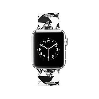 Klockrem silikon dla Apple Watch 4 40 mm, 3/2/1 38 mm trójkątny wzór
