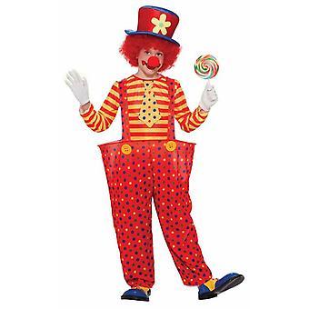 Kids Hoop Clown Costume, Medium.