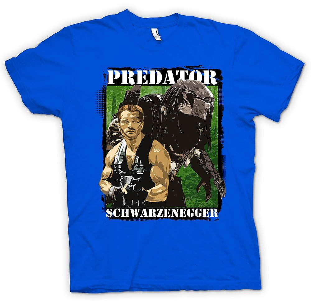 Mens T-shirt - Predator Alien - Schwarzenegger