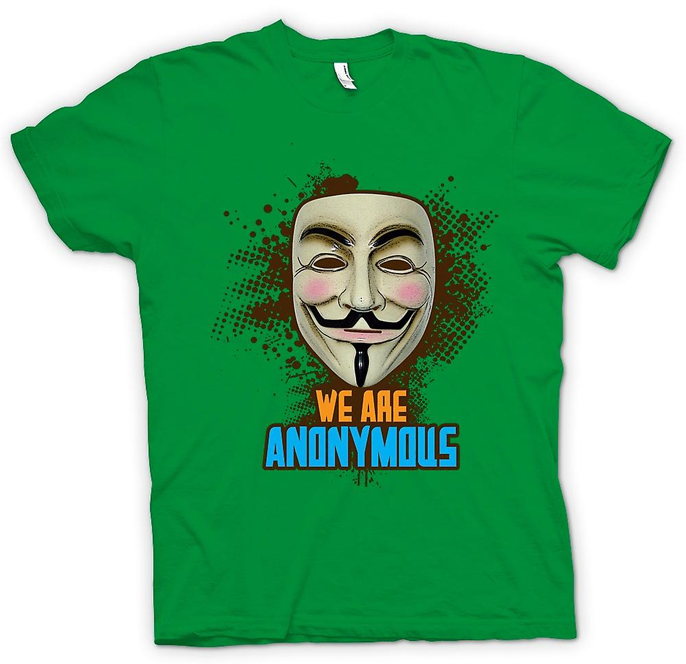 Mens t-skjorte-V For Vendetta anonym