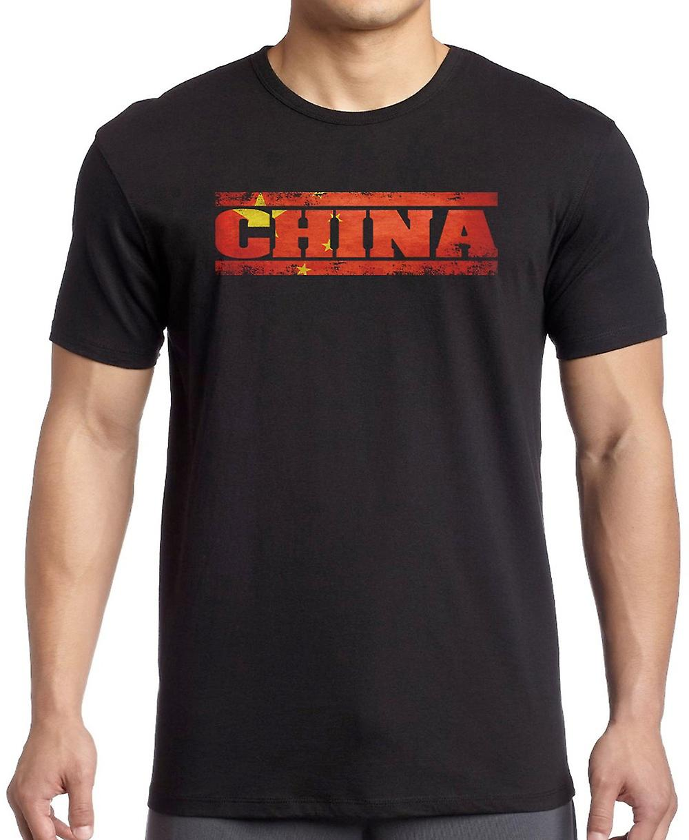 Bandiera cina cinese - parole T Shirt - 4xl
