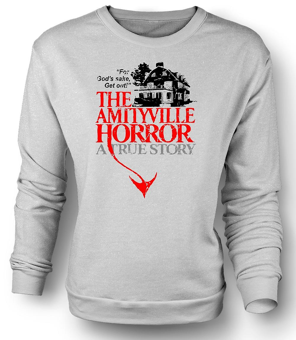 Mens Sweatshirt Amityville huis - Horror - film