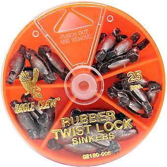 Eagle Claw gummi Core Twist-Lock sänken Dial Pack