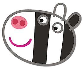 Zoe Zebra Card Masque (Peppa Pig)