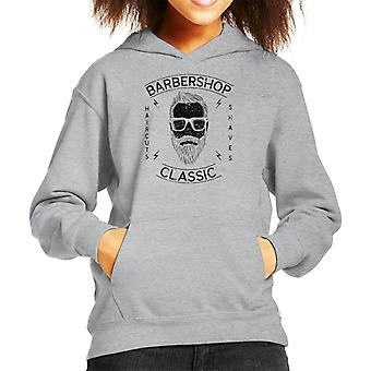 Barbershop Classic Haircuts Kid's Hooded Sweatshirt
