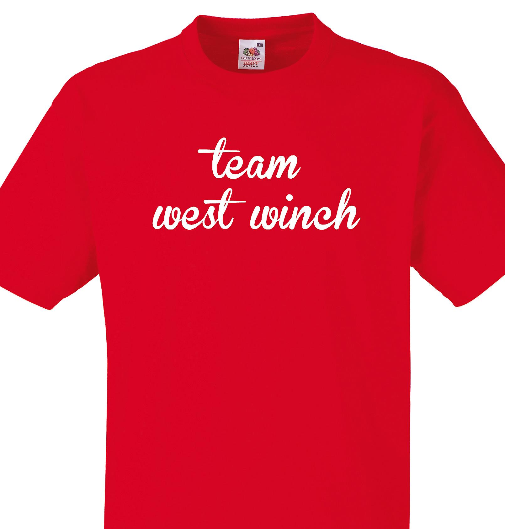 Team West winch Red T shirt