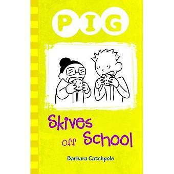Schwein Skives außerhalb der Schule
