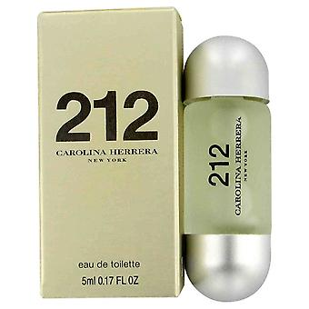 212 por Carolina Herrera Mini EDT.17 oz, 5 ml (mujeres)