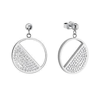 s.Oliver Jewel Damen Ohrringe Ohrhänger Edelstahl Silber Kristalle 2024272