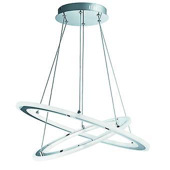 Solexa 2 anillo LED lámpara colgante-cromado - 5882-2CC de reflector