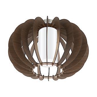 Eglo - Stellato 3 única luz Semi Flush teto cabendo em marrom madeira e branco terminam EG95589