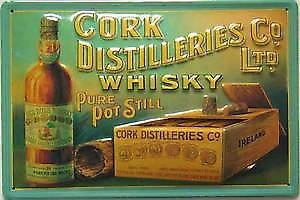 Cork Distilleries Co Ltd. embossed steel sign
