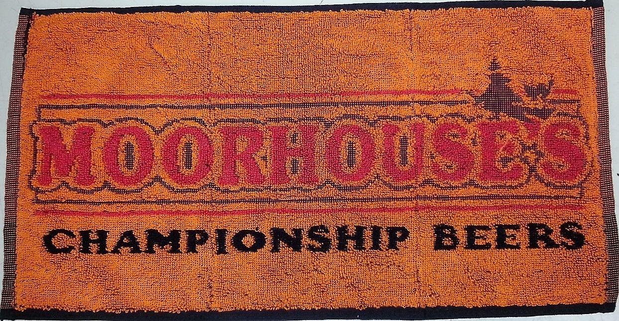 Moorhouses Championship Beers cotton bar towel   (pp)