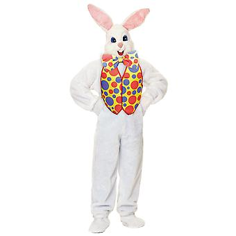 Påske Bunny Super Deluxe Plys Mascot kanin Suit voksen Herre kostume STD