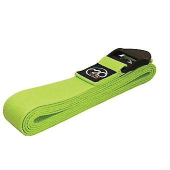 Fitness Mad 2M Deluxe Cotton Yoga Belt - Lime