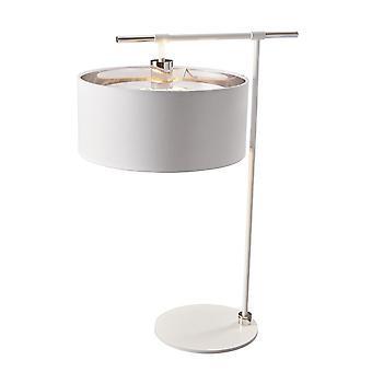 Elstead-1 lampe de table légère-nickel blanc et poli-BALANCE/TL WPN