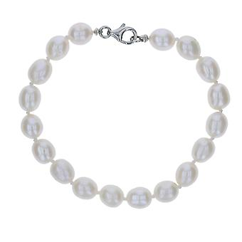 Ladies White Freshwater Pearl Bracelet - The Olivia Collection