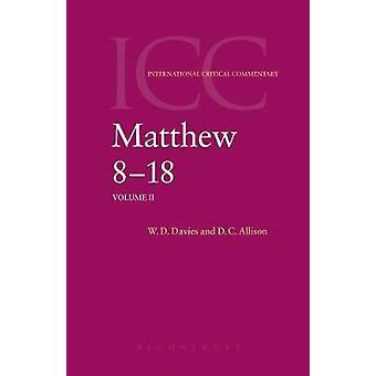 Matthew 8 18 Volume 2 door Davies & W. D.