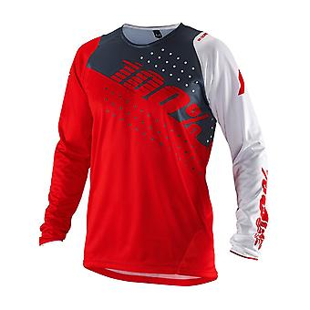 100 Percent Red R-Core Kids Long Sleeved MTB Jersey