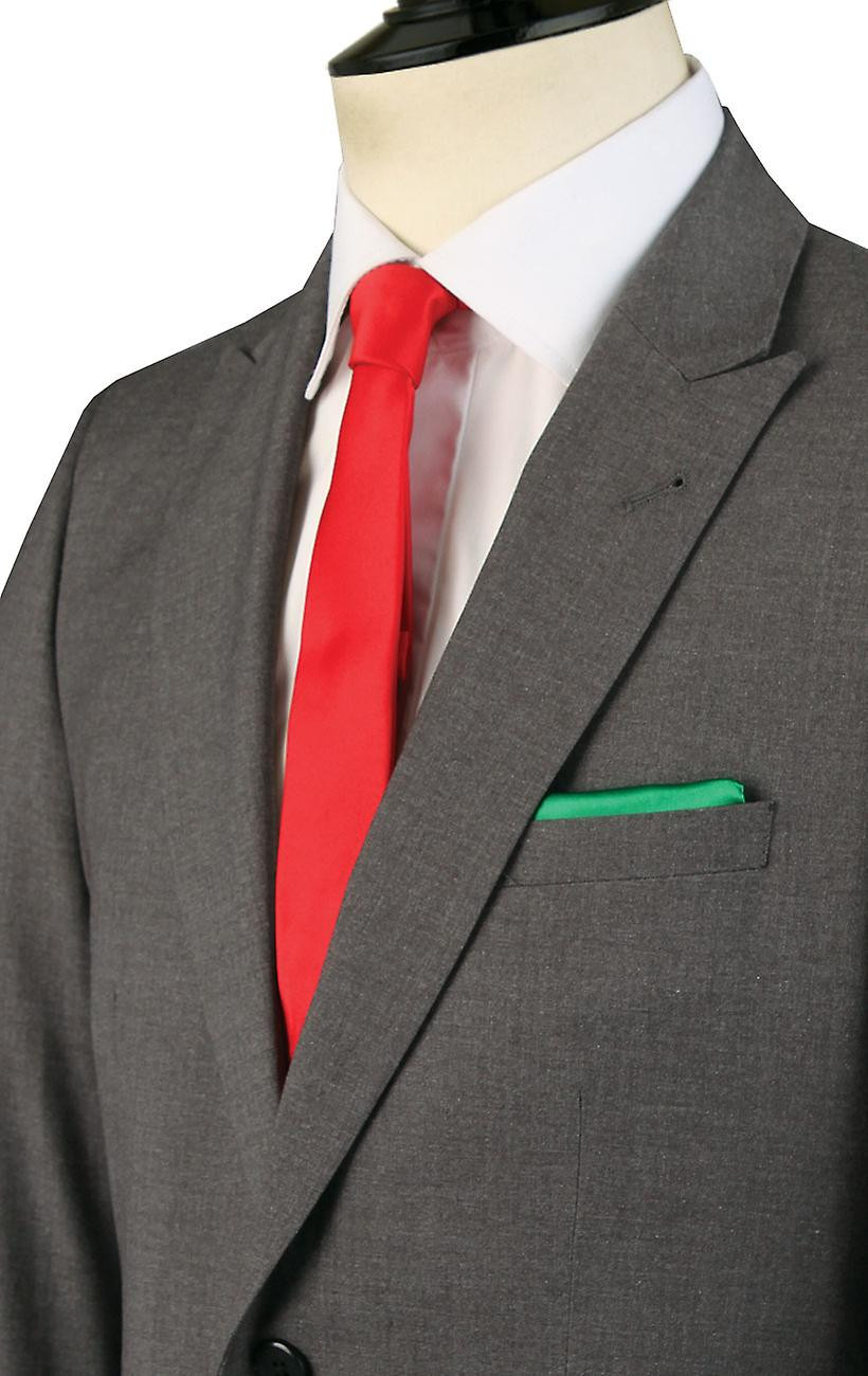 Dobell Mens Light Grey Suit Jacket Slim Fit Travel/Performance Notch Lapel