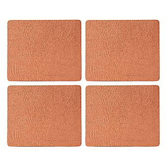 English Tableware Co. Bonded Leather Coasters, Copper