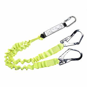 Portwest - Double Lanyard Elasticated With Shock Absorber Yellow Regular